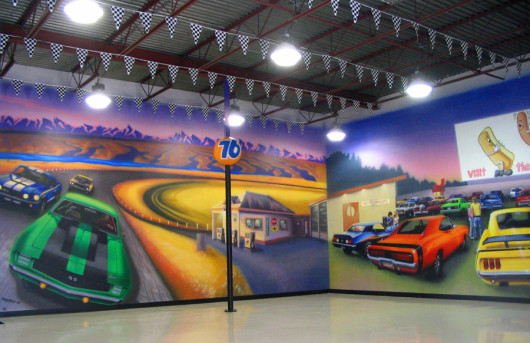 Airbrushed Mural