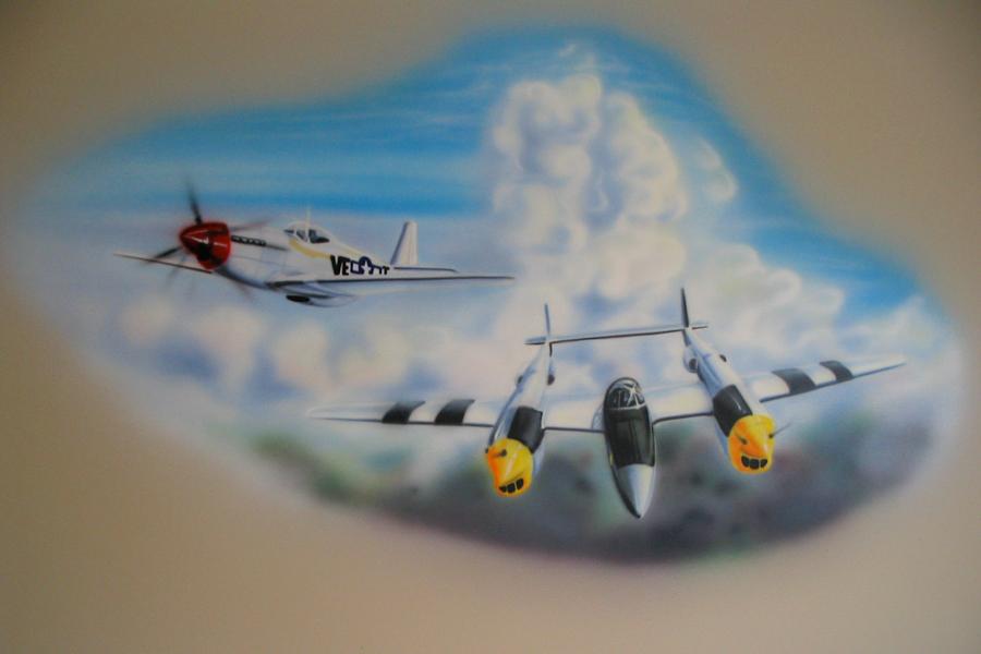 Pin airbrush murals gangsta 3d designs art car on pinterest for Airbrush car mural