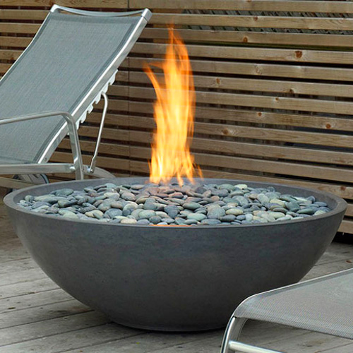 Outdoor living design edge studio arts for Modern fire pit